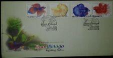 L) 2003 MALAYSIA, IKAN PELAGA, MARINE LIFE, FIGHTING FISH, NATURE, MULTIPLE STAM