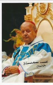 Eigenh. Autogramm Stanislaw Card. Dziwisz,Em. EB v. Krakau