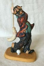 Emmett Kelly Clown Figurine Golfing with a Broom Limited Edition 10067/15000