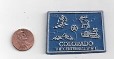 """COLORADO  """"THE CENTENNIAL STATE"""" CO    OUTLINE MAP MAGNET   NEW"""