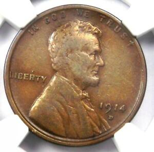 1914-D Lincoln Wheat Cent 1C - Certified NGC VF20 - Rare Key Date Penny!