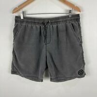 Billabong Mens Shorts 36 Grey Elastic Waist Drawstring Pockets