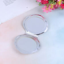 Sea Shell Shape Compact Cosmetic Mirror PU Leather Double Sided Makeup MagnifiMC