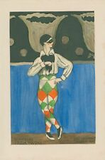 More details for 3 coloured drawings of diaghilev ballets russes dancer stanislas idzikowski.