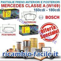 KIT PASTIGLIE FRENO ANTERIORI + POSTERIORI CLASSE A W169 160 180 CDI BOSCH