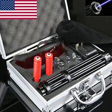 Upgraded Blue Laser Pointer Match Pen Beam Lights Set Kit Us Seller
