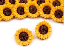 Knöpfe 10 Stück Motivknöpfe Kinderknöpfe Button Sonnenblumen