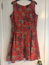 MINKPINK Floral Dress Red Pink L