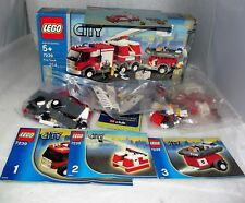 LEGO FIre Truck #7239 City 100% Complete w/ Box, Mini Figs Manuals