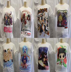 NEW JAPAN ANIME -LOT OF *6  ASSORTED Short Sleeve T-Shirts SIZE: MEDIUM