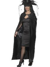 DELUXE WITCHES CAPE LADIES HALLOWEEN WITCH FANCY DRESS COSTUME ACCESSORY