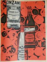 PUBLICITÉ DE PRESSE 1956 CINZANO BLANC VERMOUTH SUCRÉ