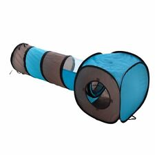2 in 1 Cat Play Tunnel And Box Tent Cat Kitten Toy With Free Catnip Sachet