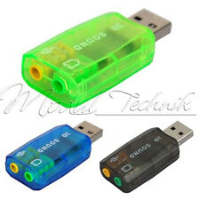 USB 2.0 to 3D AUDIO SOUND CARD ADAPTER CM108 Chipset VIRTUAL 5.1 CH Sound Track