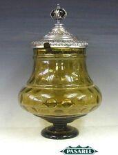 Novelty Bohemian Silver Crystal Punch Bowl Ladle Ca1880