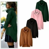 Women Long Sleeve Knitted Sweater Tops Loose Cardigan Outwear Coat Pullover
