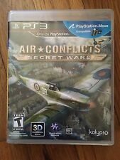 Air Conflicts: Secret Wars  (Sony Playstation 3, 2011) PS Move Compatible used