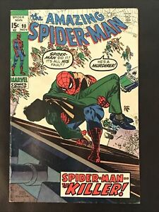 Amazing Spider-Man #90 Marvel Comic Book Nov 1970 VF