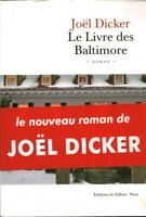 Livre le livre de baltimore Joël Dicker book