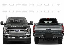 Front & Rear Chrome Super Duty Tailgate Letters For 2017+ F-250/F-350/F-450 New
