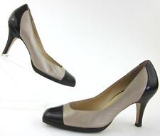 Cole Haan Cap Toe Dress Pumps Two Tone Shimmer Taupe Brown Sz 10B