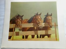 """1958 C. W. ANDERSON Horse Lithograph Print Harper """"Dinner Time"""""""