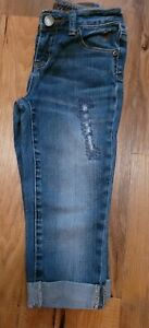 Girls Size 8 Denim Capris By Justice