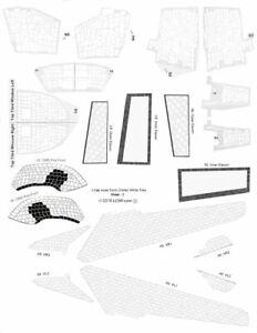 1/144 scale Early Era Shuttle Orbiter White Tile Decal Set
