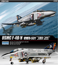 ACADEMY #12315 1/48 Plastic Model Kit USMC F-4B/N VMFA - 531 Gray Ghosts