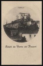 cartolina TORRE DE' PASSERI saluti da..castello