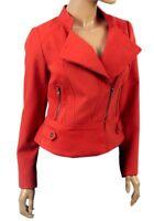 Red Womens GIRLS Jacqueline Riu Ladies Biker Style Jacket WARM