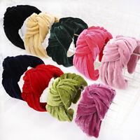 Women Wide Velvet Hairband Korea Headband for Girls Knot Headband Head Wrap