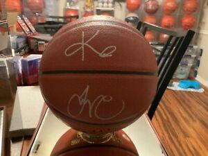 Jayson Tatum Autographed Basketball TATUM & KYRIE ERVING Rare Signed ball w/COA