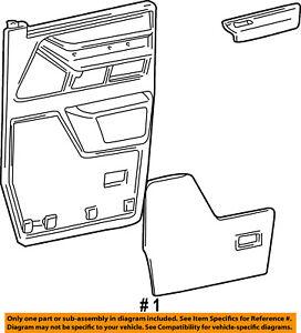 FORD OEM E-350 Econoline Club Wagon-Door Interior Trim Panel Left 3C2Z1523943AAA