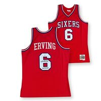 Julius Erving Autographed 76ers Mitchell Ness Swingman Jersey 83 CHAMPS Beckett