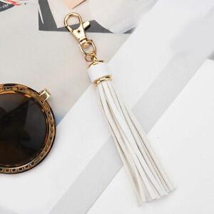 Charm PU Leather Tassel Key Chain Handbag Bag Purse Accessories Pendant Keyring