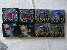 8 Brand New TDK XS-iV Eksesiv series  Minidisc - Factory sealed