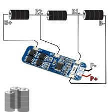 3S 10A 12V Lithium Battery Charger Protection Board Module for 3pcs 18650 BMS