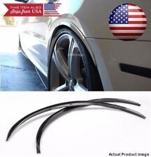 """1 Pair Flexible 1"""" Wide Body Fender Well Arch Extension Black Guard Lip For BMW"""