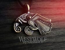 Bronze Odin's Raven Pendant - Hugin/Munin -- Viking/Norse/Medieval/Crow/Necklace