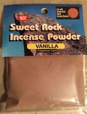 Incense Powder Vanilla Scent 12 Hour Burn Time 2/3 Cup Sweet Rock NEW In Package