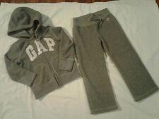 Girls Gap Size 4-5 Sequinned Hoodie Jacket & Pants Sweatsuit