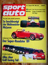 sport auto - Nr. 1/1989 mit Mercedes 190E 2.5-16, VW Polo G40, McLaren Honda MP4