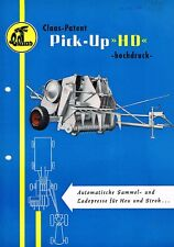 Claas Patent Pick- up HD, orig. Prospekt 50er Jahre