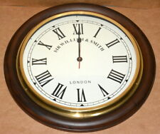 """Vintage wall clock wooden & brass 22"""" collectible decorative clock home decor"""