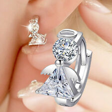 2017 New Pendant angel 925 sterling silver crystal earrings women