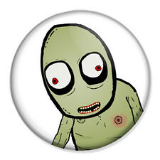 "Salad Fingers 25mm 1"" Pin Badge Button Emo Geek Gothic Punk"