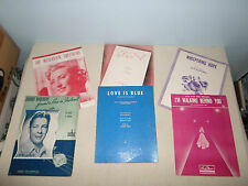 Lot of 6 Piano Song Books Sheet Music Lyric Chlo-E/Whispering Hope/Love is Blue