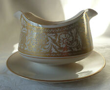 Franciscan Masterpiece-Renaissance Gold-Gravy Boat with Attached Plate-Excellent