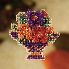 Sale 30% Off Mill Hill Autumn Harvest Collection X-stitch/bead Kit-Mum Bouquet
